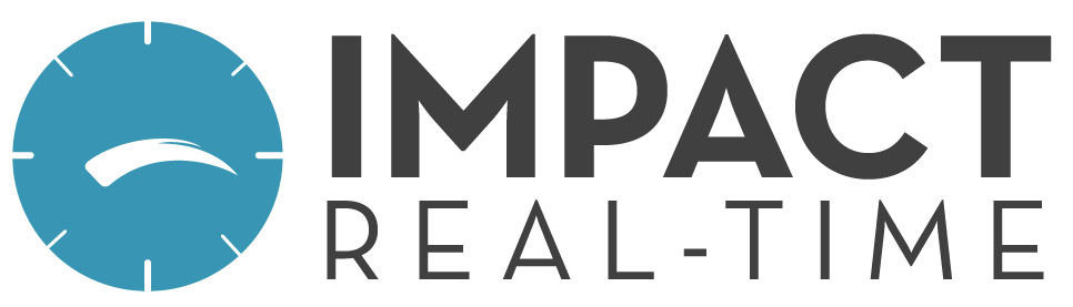 Impact REAL-TIME logo Remote webcast-based presentations